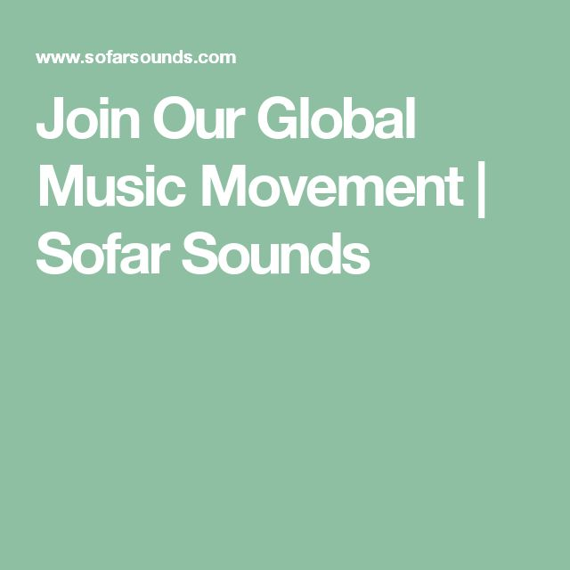 Join Our Global Music Movement | Sofar Sounds