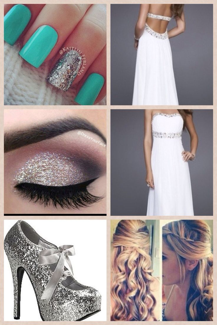 i think that this would be a prom look for any