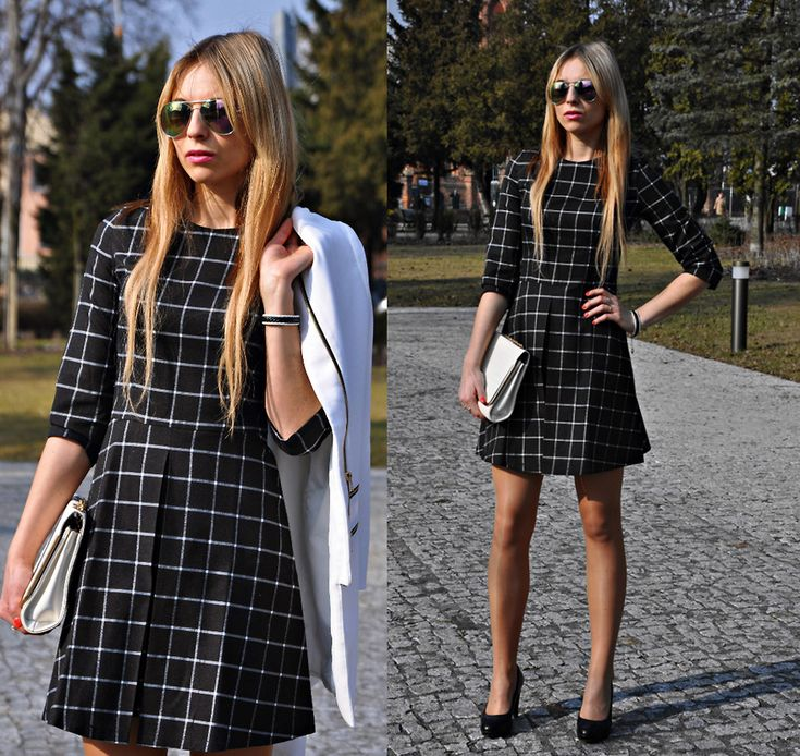 Sandra K. - Checked dress