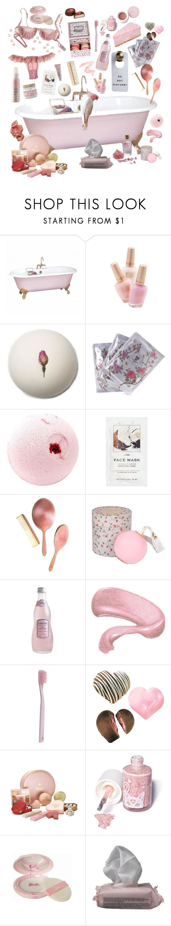 """""""Rose Water"""" by jacesea ❤ liked on Polyvore featuring Anna Sui, H&M, Tiffany & Co., Ladurée, By Terry, The Body Shop, Paul Smith, Wilton, Charbonnel et Walker and Sugarpill"""