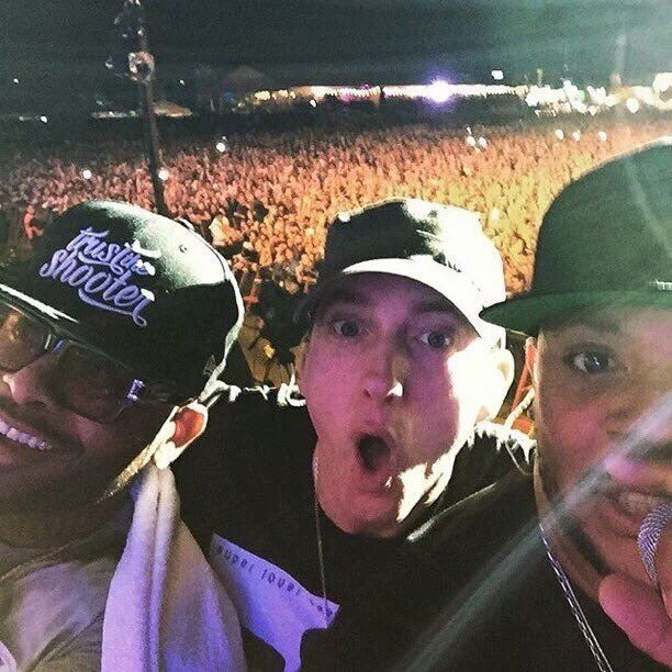 The selfie!Eminem Mr.Porter, Royce Lollapalooza, Argentina 2016~ PF☠