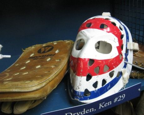 Ken Dryden mask and blocker | Montreal Canadiens | NHL | Hockey