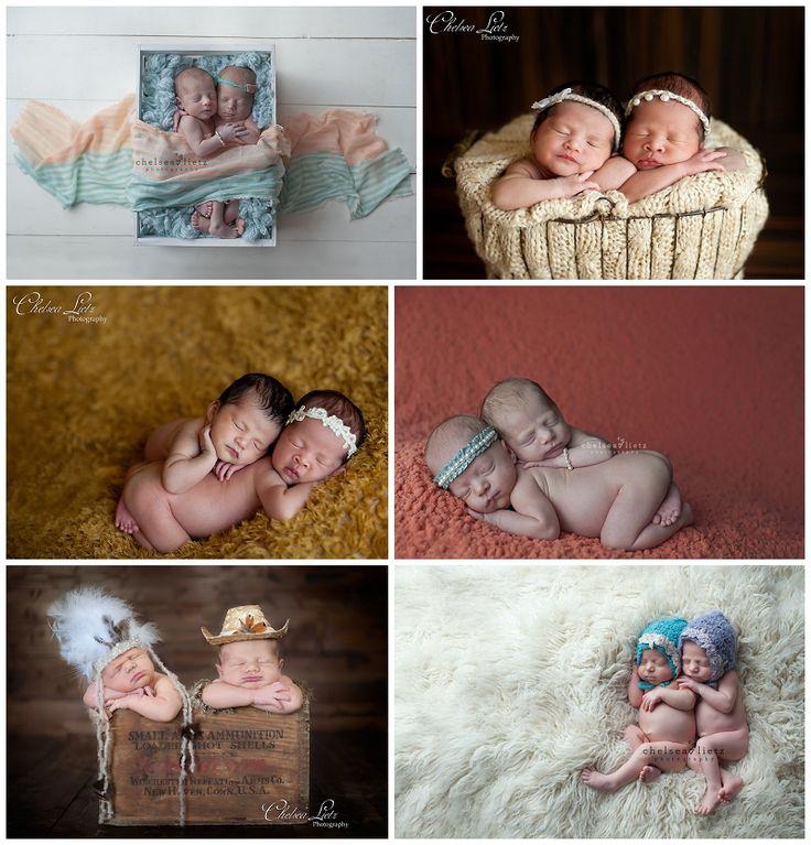 Chelsea Lietz Photography, twin newborn portraits, photos of twin babies, twins, newborn twins, newborn portraits of multiples