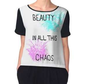 Women's Chiffon Top #redbubble #fashion #beauty #chaos #design #graphicdesign #clothing #tapestry #cases