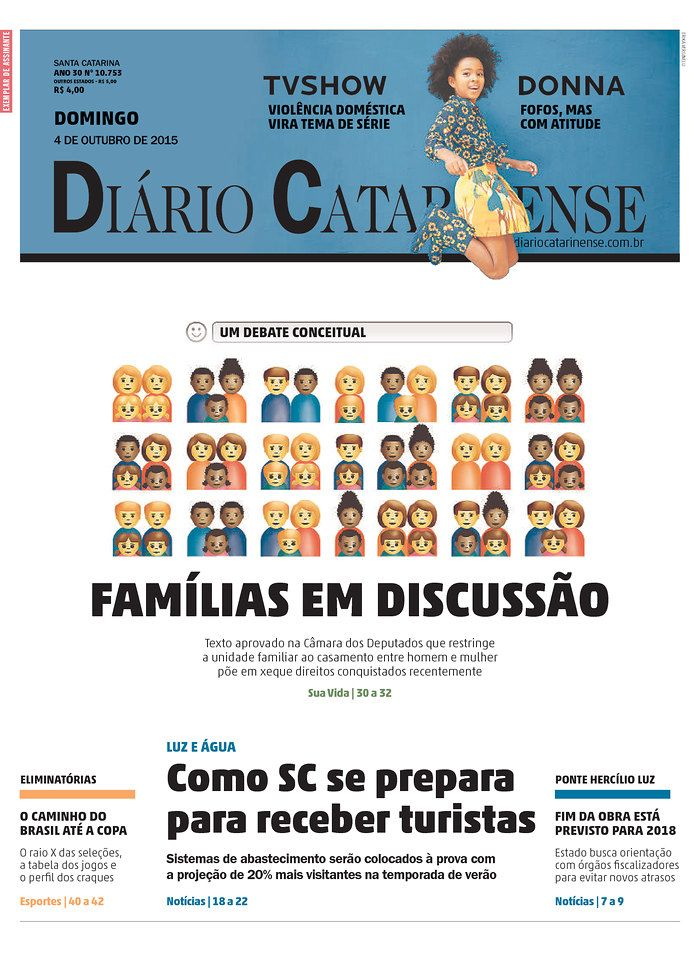 Diario Catarinense 10/4/15 via Newseum