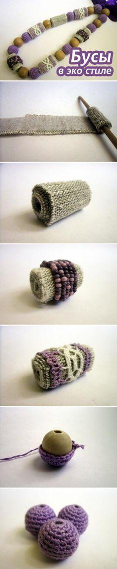Делаем бусы в эко стиле / DIY: Eco-friendly Beaded Necklace