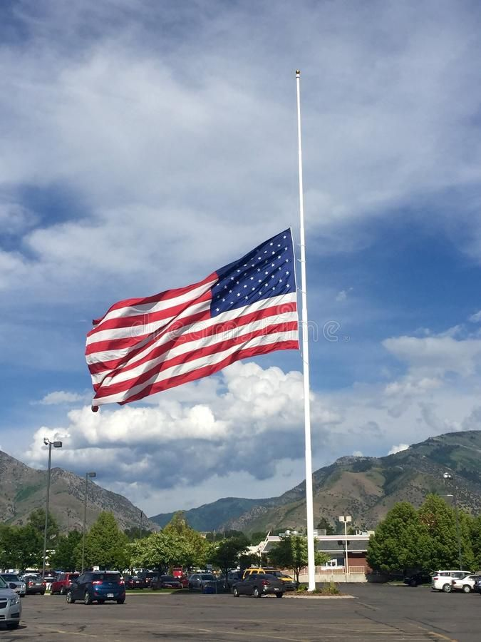 American Flag At Half Staff This Flag Was Flying At Half Staff On 6 13 16 To Ho Ad Flag Flying Staff American Flag Ad American Flag Photo Flag
