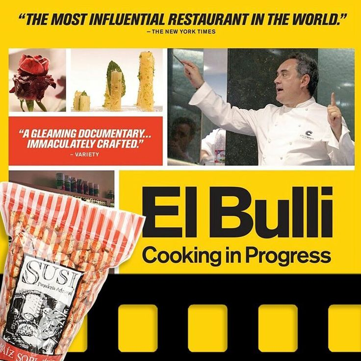 """Nuestro recomendado de hoy en #ViernesDePelícula con Susi: """"El Bulli, Cooking in Progress"""" un documental para ver los detalles de la gastronomía molecular del restaurante El Bulli y su dueño Ferrán Adriá. Encuéntralo en Netflix.    #SnackSaludable #Susi #Granola #Pan #Panadería #ComidaSaludable #Cereales #Yummy #Tasty #TradiciónAlemana #Sano #Natural #HealthyFood #NutriciónCreativa #Gluten #Light"""