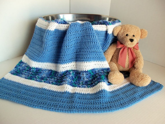 Baby/Toddler Boys Blue and White Afghan by SnugableTouches on Etsy, $35.00Boys Blue, Baby Toddle Boys, Baby'S Toddle Boys