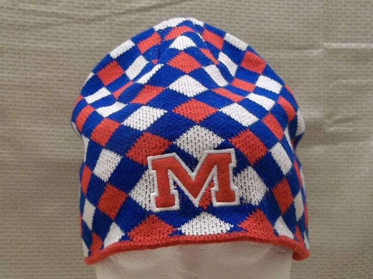 University Of Mississippi Starter Brand Knit Stretch Hat NCAA Cap Ole Miss #Starter #OleMissRebels