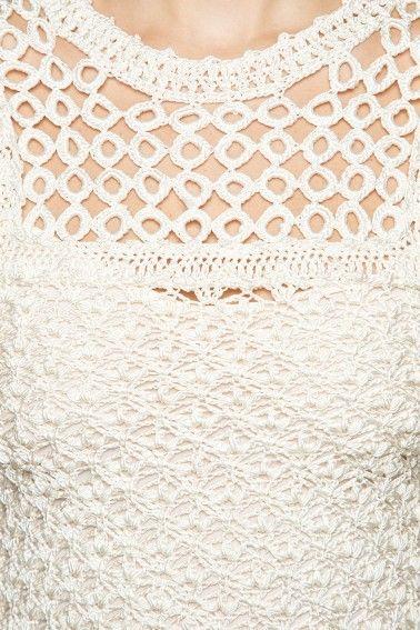 Off Marchesi Crochet Dress - Vanessa Montoro USA - vanessamontorolojausa