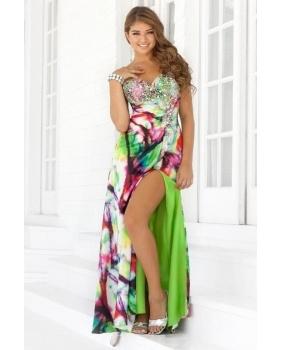 Tie Dye Prom Dress