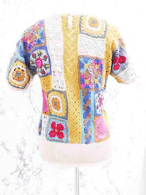 【楽天市場】オリエントグレース ORIENT GRACE ニット セーター 半袖 レース編み 花 モチーフ からし色 青 茶 水色 イエロー ピンク ブルー ブラウン ライトブルー レディース 【ベクトル 古着】【中古】 151023:ブランド古着の買取販売ベクトル
