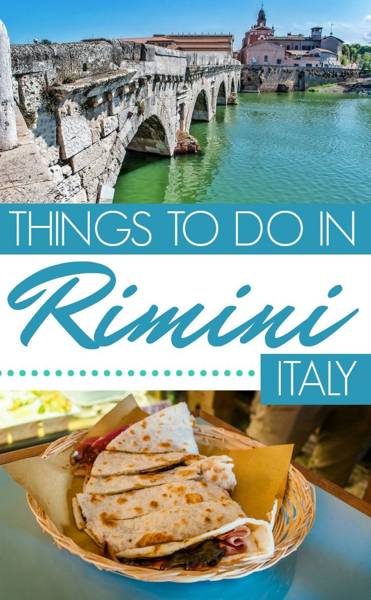 Things to do in Rimini, Italy: Ape-ing about town from food to history. In the beguiling town of Rimini in the Emilia Romagna region of Italy, there is delightful mixing of the old and the new. There's fabulous beaches and a vibrant nightlife, yet there is so much more to this ancient town. Here's a rundown of the best things to see and do. #Italy #TheRidersLand