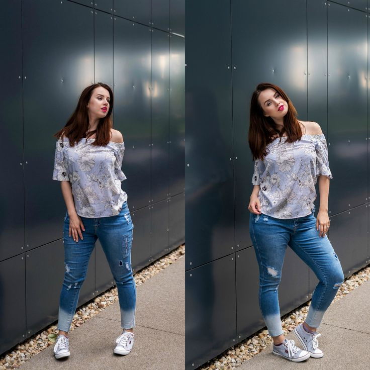 F&F top, simply be jeans, curvy pear shaped body blogger outfit