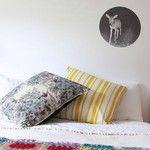 Pony Rider strip cushion | floral cushion | bambi wall dot | wall sticker | afghan rug