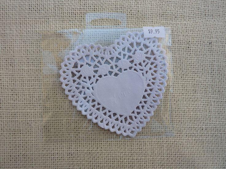 White Heart Doilies 25 -$9.95