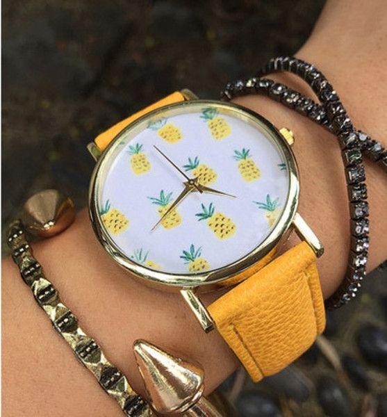Ananas+damenuhr,Anker+Uhr,Leder+Uhr+von+womencreations+auf+DaWanda.com
