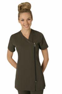 Belle Tunic CHARCOAL #salon #spa #hair # beauty #uniform http://www.salonweardirect.co.uk/Tunics/Belle-Tunic-CHARCOAL/prod_1549.html