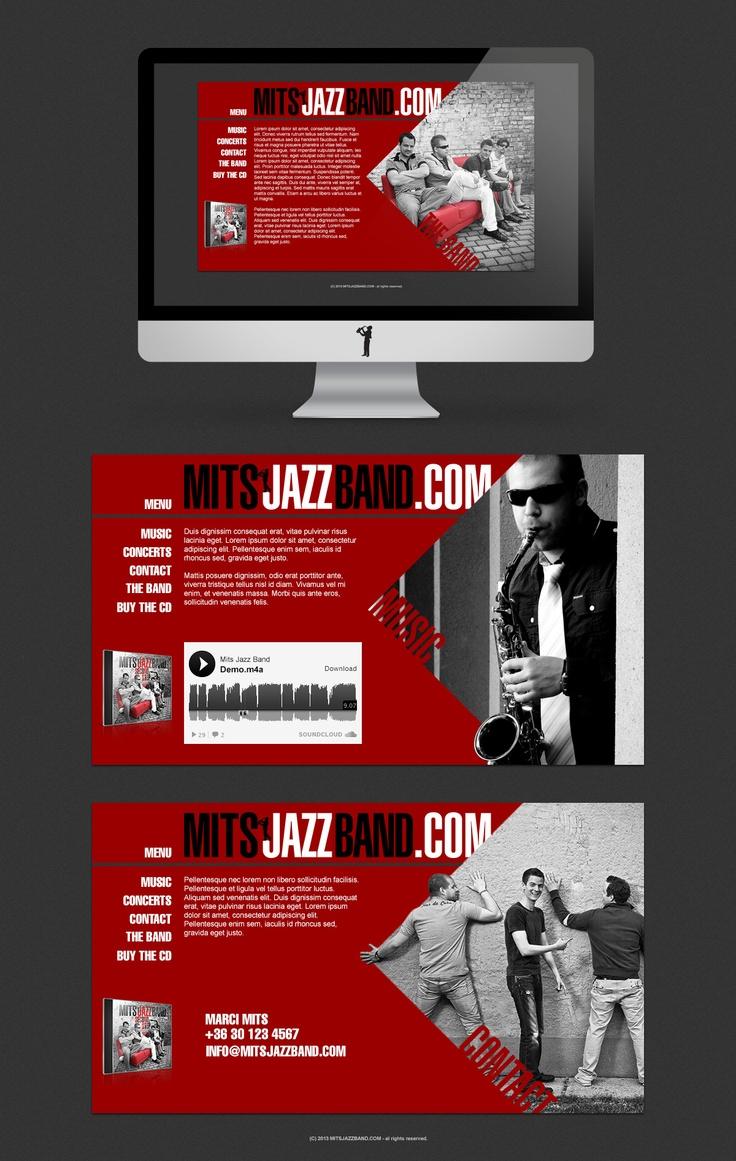 Mits Jazz Band webdesign www.mitsjazzband.com