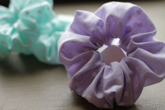 Handmade Cotton Dotty Scrunchies by Rusticmintx on Etsy