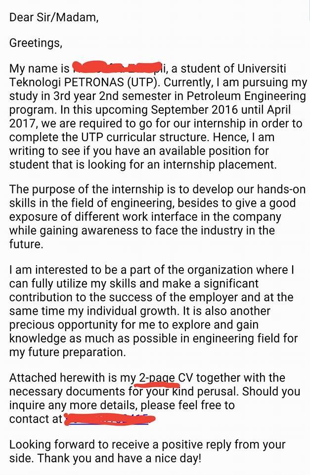 Majikan Ini Tunjuk Contoh Cover Letter Paling u0027Perfectu0027 Yang - petroleum engineer sample resume