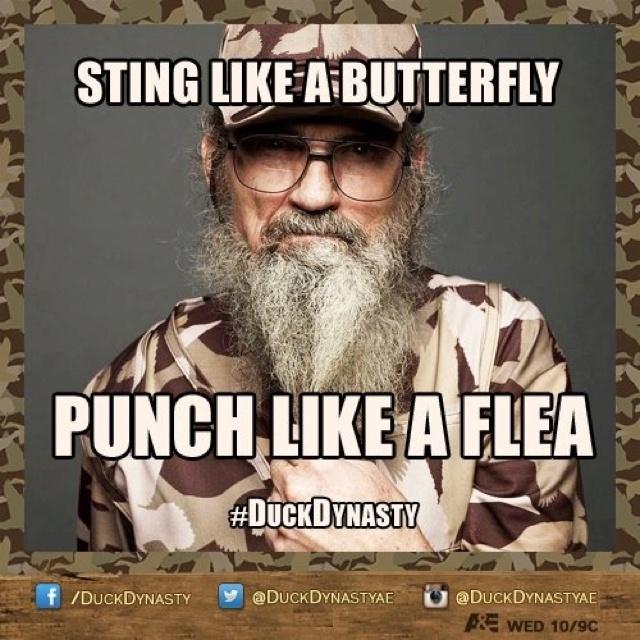 Si...sting like a butterfly, punch like a flea ;)