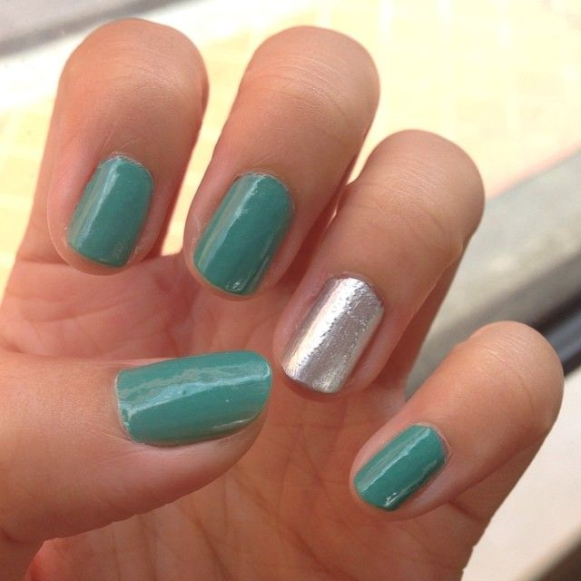 My NJ kids bought me nail polish for my birthday and they happened to be colours suitable for school so here's my second… 2014 mani 29