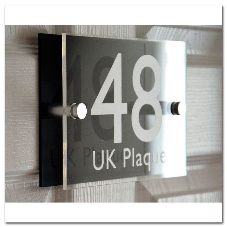 Was £19.99 > Now £11.99. Save 40% off Rectangle Double Paste WHITE TEXT Effect | Modern Design Personalised Crystal Clear & Black Acrylic Decorative Back Plate House Numbers Signs | Street Name Signs | House Name Plaques | House signs | Door Plaques (6 Font Styles To Choose) #48, #AddressNumbersPlaques, #DealScore5OutOf5, #GardenOutdoors, #Hardware, #HighestEver, #HouseNumbers, #LowestEver, #Under25