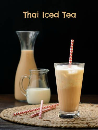 thai iced tea refreshments drinks food sweets drinks thai desserts fun ...