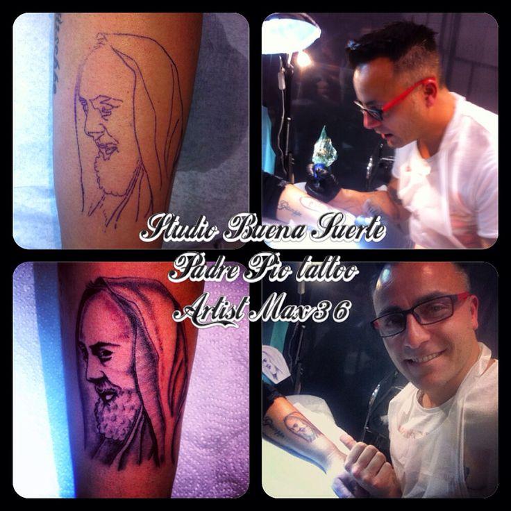 Tattoo Padre Pio Artist Max36tattoo