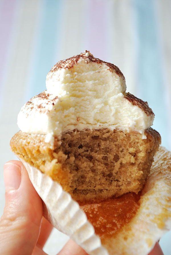 Tiramisu Cupcakes Mit Mascarpone Frosting In 2020