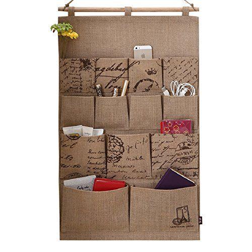 Home-Cube® Linen/Cotton Fabric 13 Pockets Wall Door Closet Hanging Storage Bag Organizer,White Polka Dots/Navy Stripe (Camel cotton linen) Home-Cube http://www.amazon.com/dp/B00MQRE0Q0/ref=cm_sw_r_pi_dp_Aum4ub004KZGG