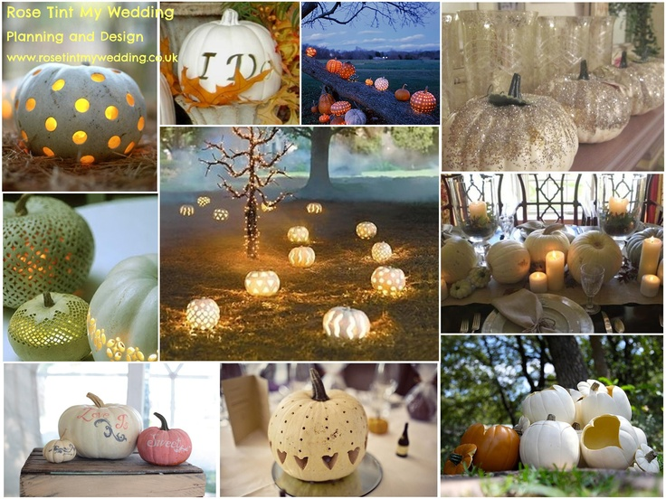 Pumpkins aren't just for Halloween, they make dramatic decorations for an Autumnal wedding. Need help with any aspects of wedding planning or styling? Visit www.rosetintmywedding.co.uk #weddingpumpkins #weddingdecor #weddinginspiration