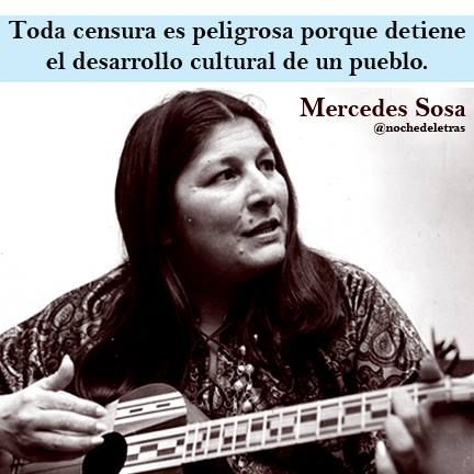 Mercedes Sosa - sobre la censura