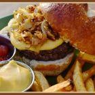 Beer Cheese Pretzel Burger
