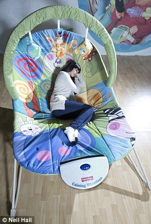 Who's a big baby? Huge adult-baby-size bouncy chair