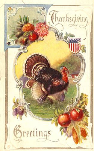 Thanksgiving Wishes | Thanksgiving Greetings Turkey Postcards Gallery - Vintage Thanksgiving ...