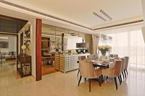 Beautiful Dining Table, A luxury apartment in Jaipur: Jewel