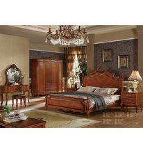 Latest Wooden Furniture Designs General Use Antique Home Bed for Sale