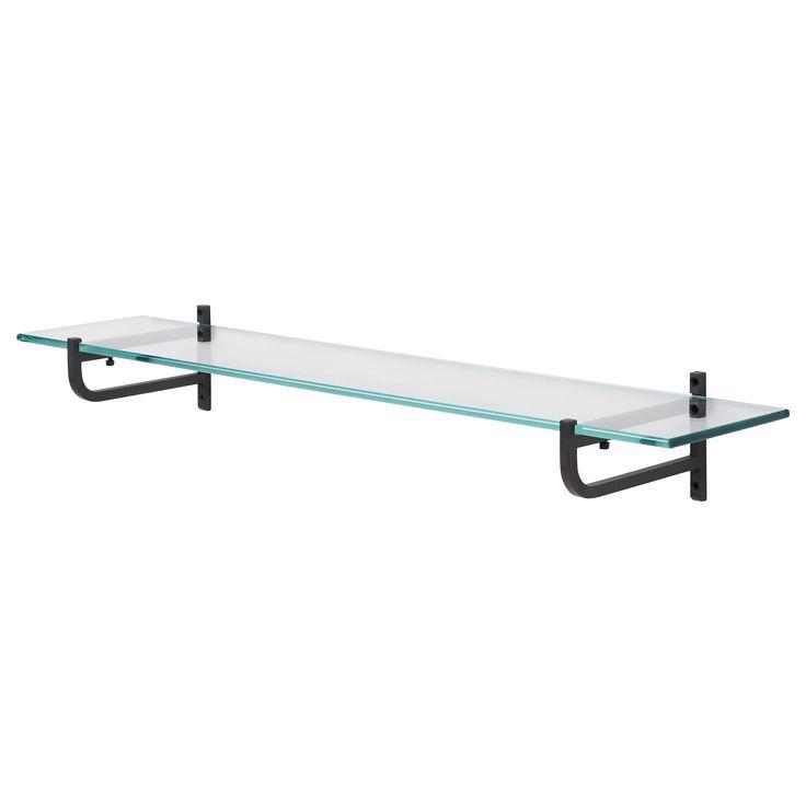 shelf for below kitchen window hj lmaren glass shelf. Black Bedroom Furniture Sets. Home Design Ideas