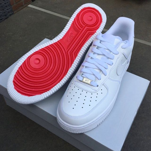 Red Bottom AF1 (Low) | Red nike shoes