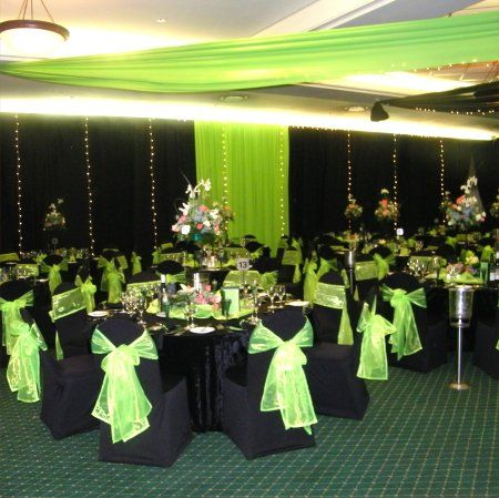 my dream wedding colors: lime green, black, and whiteBlack Weddings, Black And White, Dreams Wedding, Wedding Colors, Limes Green, Dream Wedding, Wedding Theme, Chairs Covers, Green Wedding