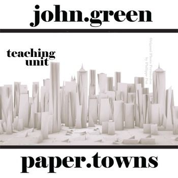 PAPER TOWNS Unit Teaching Package (by John Green)NOVEL = PAPER TOWNS by John GreenGRADE LEVEL = 7-12150+ slides/pages in lesson plan unit Pacing Guide included>>> MEETS COMMON CORE STANDARDS <<<CONTENTS:* PAPER TOWNS Pre-reading Bias Intro Activity- answer thematic questions to get students thinking about the novel- 11-page/slide activity- CCSS.ELA-Literacy.RL.2* PAPER TOWNS Plot Chart Organizer Diagram Arc- organize the 6 parts of the plot- 1-page organizer & answer ...