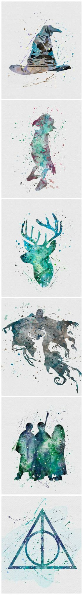 Harry Potter Watercolors