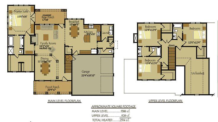 66 best floor plans images on pinterest floor plans for 2 bedroom lake house plans