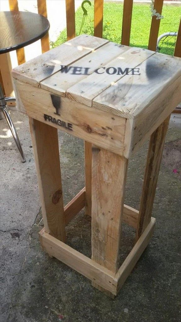 25 best ideas about pallet stool on pinterest pallet bar stools rustic outdoor bar stools Rustic outdoor bar stools