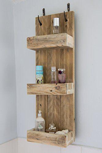 Rustic Bathroom Shelves made from reclaimed pallet wood P... https://www.amazon.co.uk/dp/B01BB6C6LW/ref=cm_sw_r_pi_dp_x_cwx6xbCNC009F