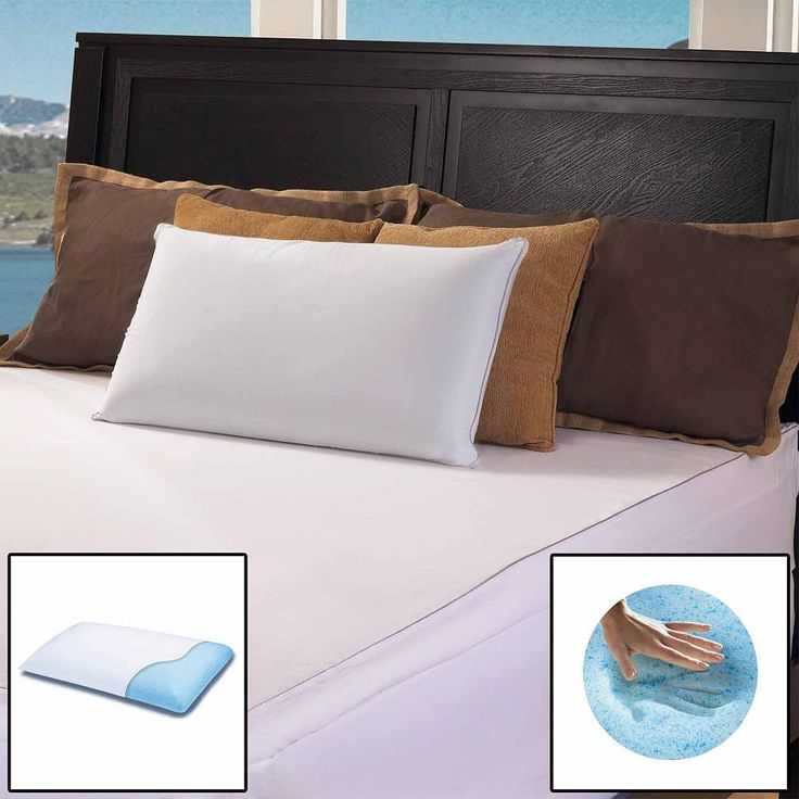 Gel Memory Foam Classic Pillow - Standard/Queen, White