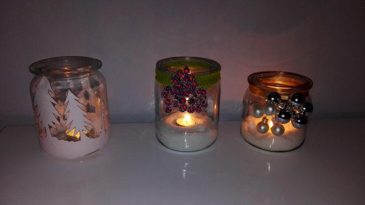 Świąteczne świeczniki z słoików